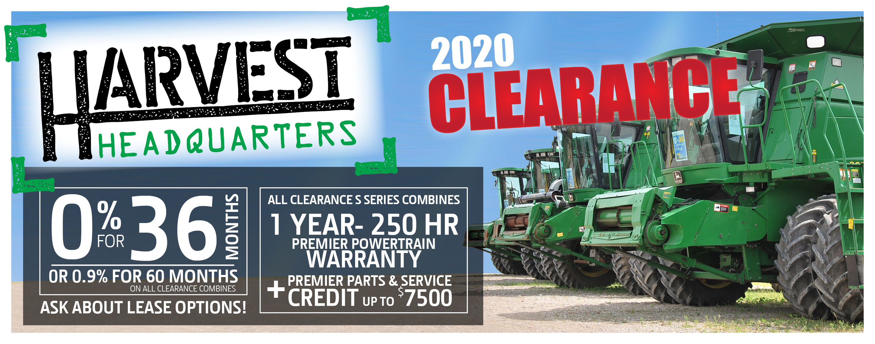 Harvest Headquarters 2020 Clearance